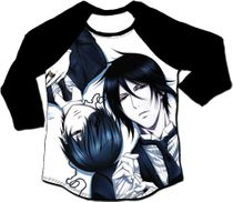 Black Butler 2 - Ciel & Sebastian 3/4 Sublimation Long-Sleeve Raglan L Pre-Order