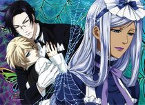 Black Butler 2 - Claude, Aloi And Hannah Wall Scroll Pre-Order