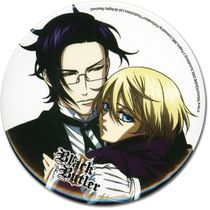 "Black Butler 2 Claude And Alois 3"" Button RETIRED"