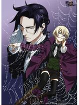 Black Butler 2 - Claude And Alois In Web Wallscroll Pre-Order