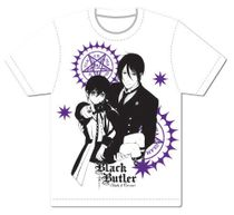 Black Butler B.O.C - Sebastian And Ciel Men Screen Print T-Shirt L Pre-Order