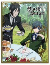 Black Butler - Ciel & Sebastian Afternoon Tea Sublimation Throw Blanket Pre-Order