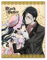 Black Butler - Ciel & Sebastian Dresses Sublimation Throw Blanket Pre-Order