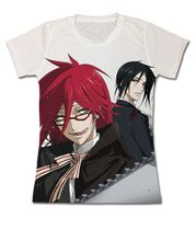 Black Butler - Grell And Sebastian Full Jrs T-Shirt L Pre-Order
