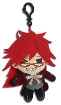 Black Butler - Grell Sublimation Plush 3'' Pre-Order