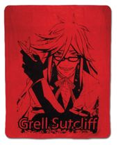 Black Butler Grell Throw Blanket RETIRED