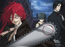 Black Butler Grell Wall Scroll Pre-Order