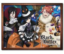 Black Butler - Halloween Group Sublimation Throw Blanket Pre-Order