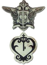 Black Butler Phantomhive Emblem And Sebastian Watch Emblem Pinset Pre-Order