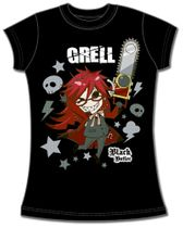 Black Butler Sd Grell Jrs T-Shirt S Back Order
