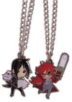 Black Butler - Sd Sebastian & Grell Necklace Set IN STOCK
