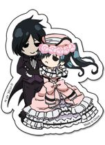 Black Butler Sebastain & Ciel Dance Sticker RETIRED