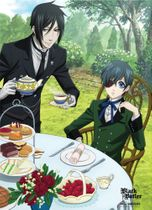Black Butler Sebastain & Ciel Dining Fabric Poster Back Order