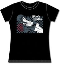 Black Butler Sebastain With Pentagram Jrs T-Shirt M Pre-Order