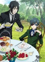 Black Butler Sebastian & Ciel Dining Wall Scroll Pre-Order