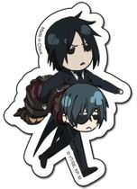 Black Butler Sebastian & Ciel Sticker Back Order
