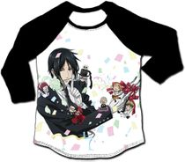 Black Butler - Sebastian Party 3/4 Sublimation Long Sleeve Raglan XL Pre-Order