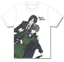 Black Butler - Sebastian Puts Coat On Ciel's Shoulder Mens T-Shirt L Pre-Order