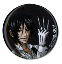 Black Butler Sebastian With Knives Button Back Order