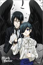 Black Butler - Sebastian With Wings And Ciel Paper Poster Pre-Order