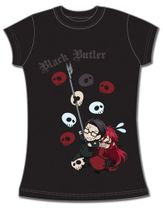 Black Butler Spears & Grell Jrs T-Shirt L Back Order