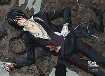 Black Butler Wounded Butler Fabric Poster Pre-Order