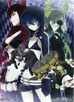 Black Rock Shooter Brs, Dm, And Bgs Fabric Poster RETIRED