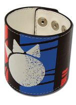 Bleach Kon Print Pvc Leather Wristband Pre-Order