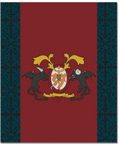 Blue Exorcist Academy Emblem Throw Blanket Pre-Order