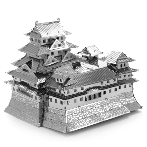 Metal 3D Laser Cut Architectural Building pre-punched DIY model
