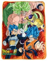 Dragon Ball Super Broly - Group Sublimation Throw Blanket Pre-Order