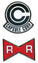 Dragon Ball Z Capsule Corp. & Red Ribbon Army Pinset Pre-Order