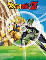 Dragon Ball Z - Goku & Cell With Planet Sublimation Throw Blanket TBD