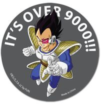 Dragon Ball Z Its Over 9000!!! Sticker RETIRED