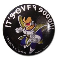 "Dragon Ball Z Vegeta Its Over 9000 1.25"" Button RETIRED"