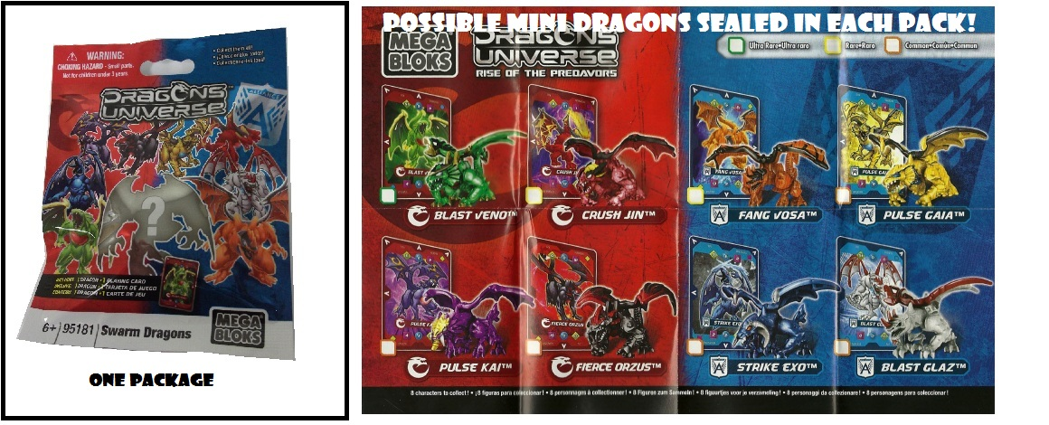 Micro Dragons Random Mystery Minifig Pack