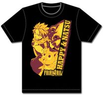 Fairy Tail - Natsu And Happy Mens T-Shirt L Back Order