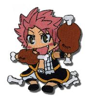 Fairy Tail Natsu Eating Embroidered Patch Pre-Order
