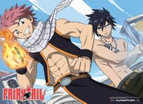Fairy Tail Natsu & Gray Ready To Fight Wallscroll Pre-Order