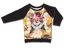 Fairy Tail - Natsu Lightning Fire Mode Long Sleeve Raglan XL Back Order