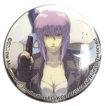 Ghost In The Shell - Motoko With Tachikoma Button 1.25'' Pre-Order
