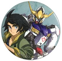 Gundam Iron Blooded Orphans - Mikazuki & Gundam 1.25'' Button Pre-Order