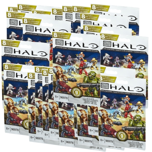 Halo Mega Bloks Series 9 Factory Sealed Case of 24 Minifigures