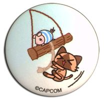 Monster Hunter - Airou & Poogie On A Swing Button 1.25'' Pre-Order