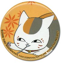 Natsume's Book Of Friends - Nyanko With Spoon Button Pre-Order