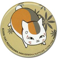 Natsume's Book Of Friends - Running Nyanko Button Pre-Order