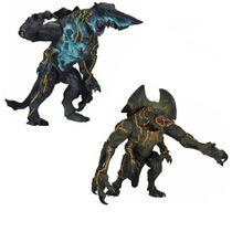 Pacific Rim Series 3 Ultra Deluxe Kaiju Set of 2 Action Figures [Trespasser & Battle-Damaged Knifehead]