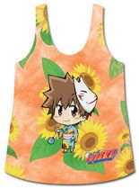 Reborn! - Tsuna Sd And Sunflowers Sublimation Tank Top L Pre-Order