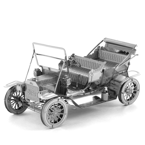 3D Metal Vehicle of 1908 Model T toy collector model requiring assembly and construction