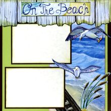 """'A Walk on The Beach' - 12""""x12"""" Page Kit (Right Side)"""